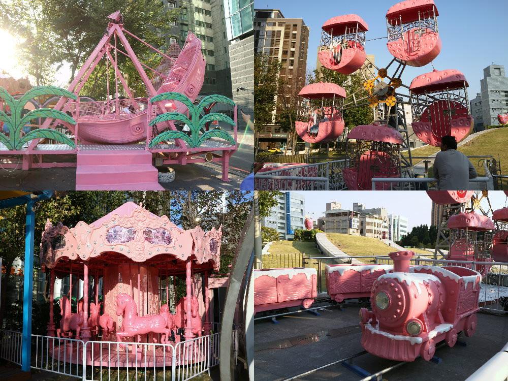20181006194829 75 - 草悟廣場充滿少女心粉紅樂園登場!粉紅色海盜船、旋轉木馬、巨大夾娃娃機~