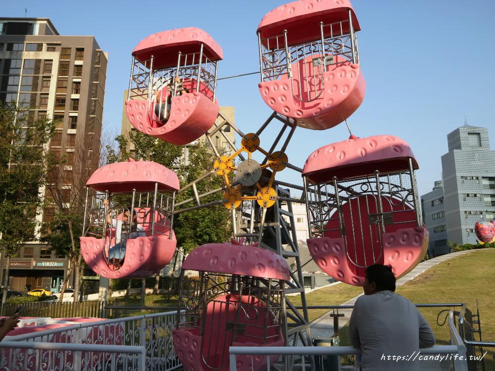 20181006194848 78 - 草悟廣場充滿少女心粉紅樂園登場!粉紅色海盜船、旋轉木馬、巨大夾娃娃機~