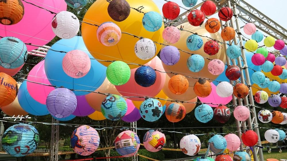 台中公園10/31點燈,變身成光影遊樂園,現場還有彩繪燈籠~