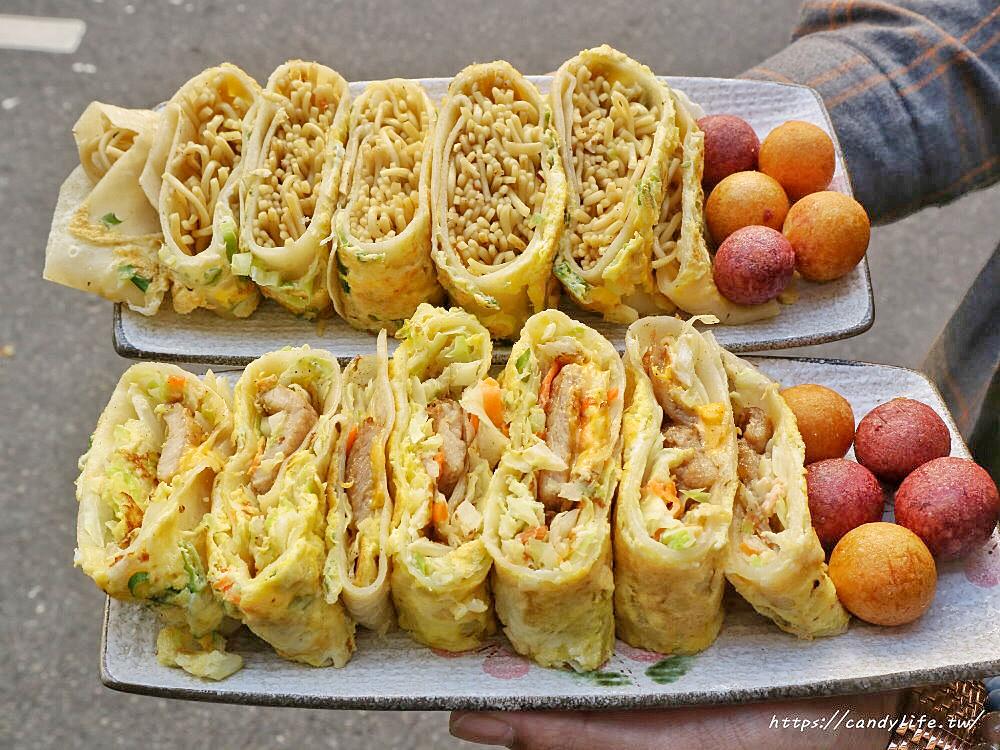 20200428110907 78 - 台中古早味粉漿蛋餅推薦~隱身在市場中的爆餡蛋餅!炒麵蛋餅超特別,雙色地瓜球也超好吃~