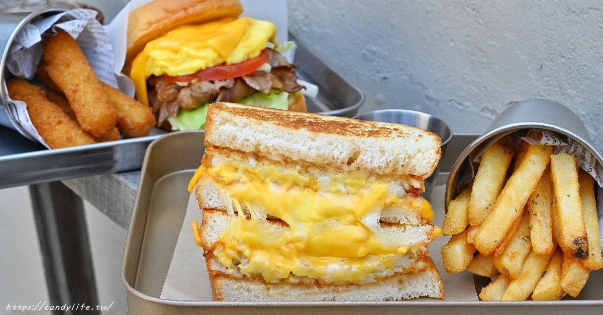 耍廢三明治 台中網美系早午餐,主打手作三明治,激推薯餅起司三明治,瀑布起司超邪惡~