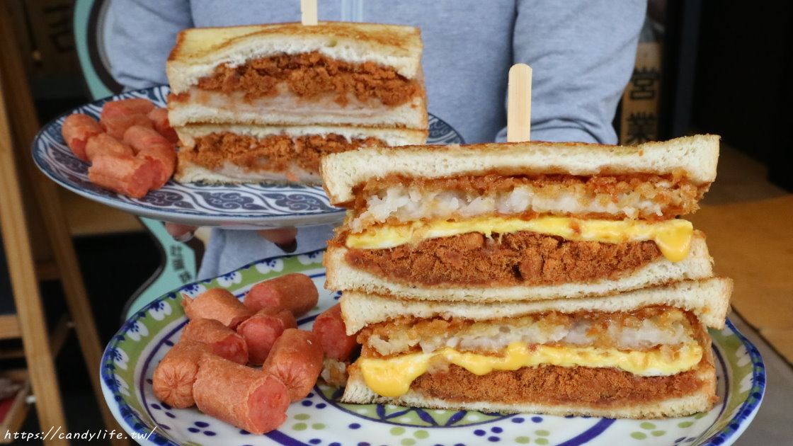 恰吉吐蛋|台中三明治專賣,爆漿芋泥三明治在這裡,搭配鹹香肉鬆或起司讓你欲罷不能,芋頭控必吃!